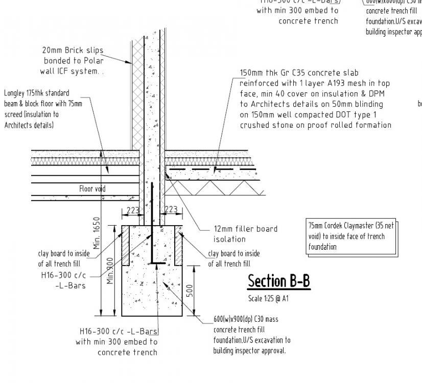 L Bars Into Concrete Foundations Foundations Buildhub