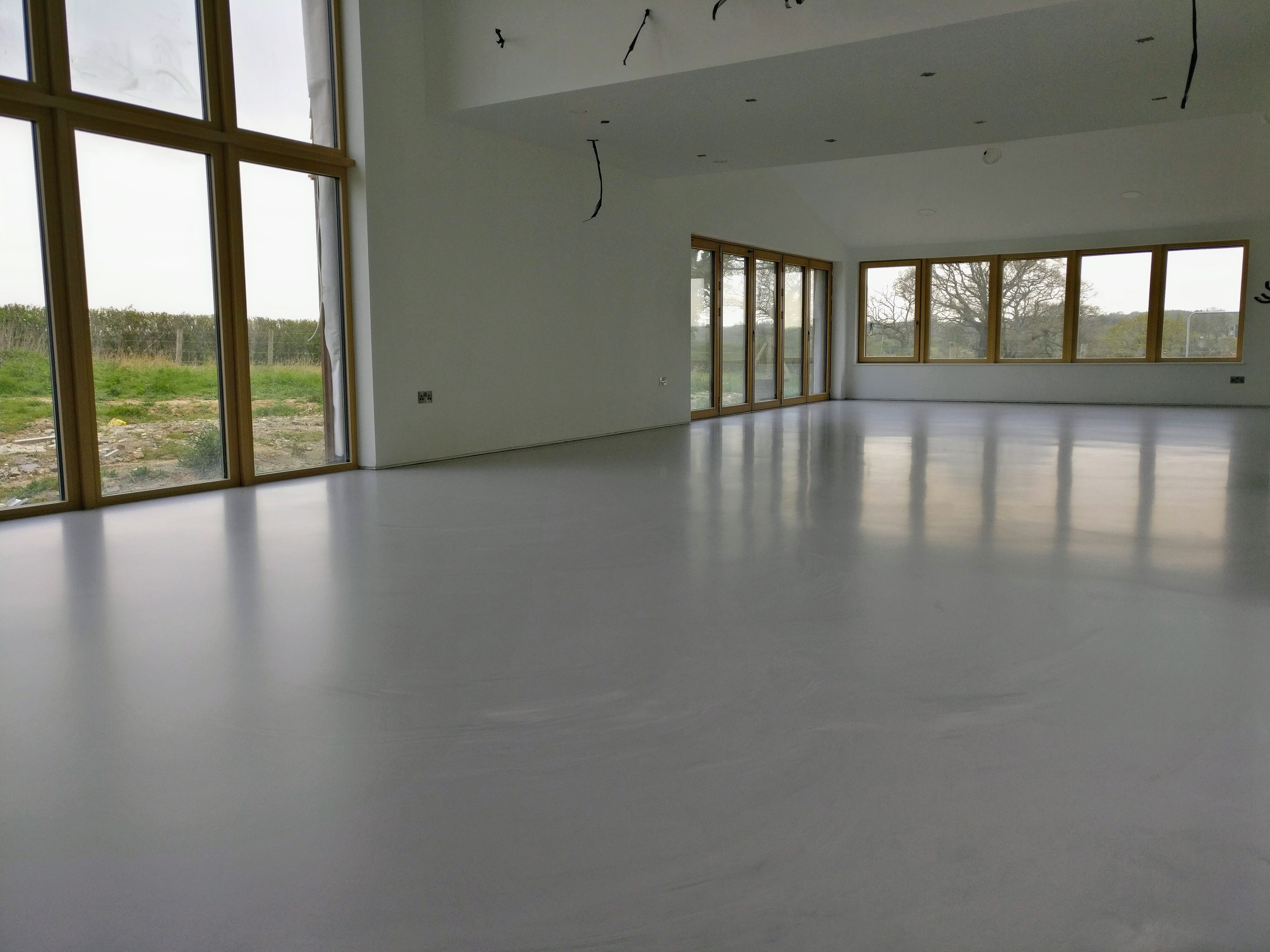 Poured Resin Floor Finished And A