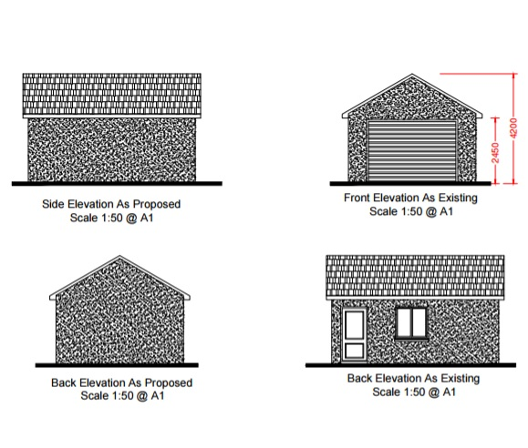 Planning permission and boundaries ground level for Free garage design software