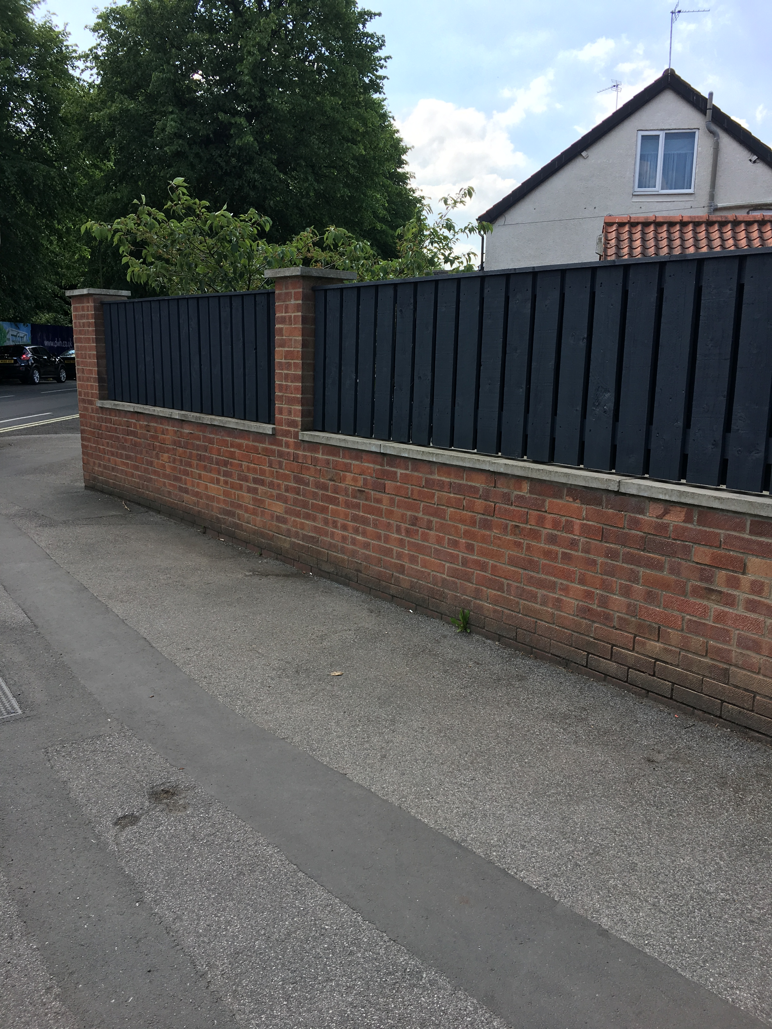 Fence Panels on Top of Wall Landscaping & Gardens BuildHub
