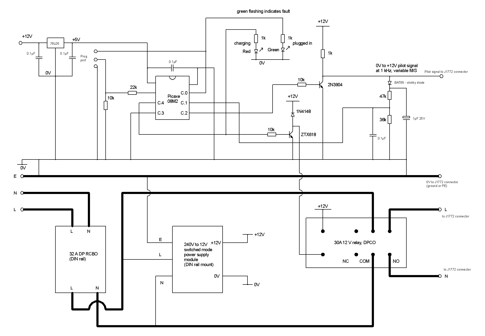 Simple Ev Wiring Schematics Diagram Data Circuit Board Creating A Library Alternator