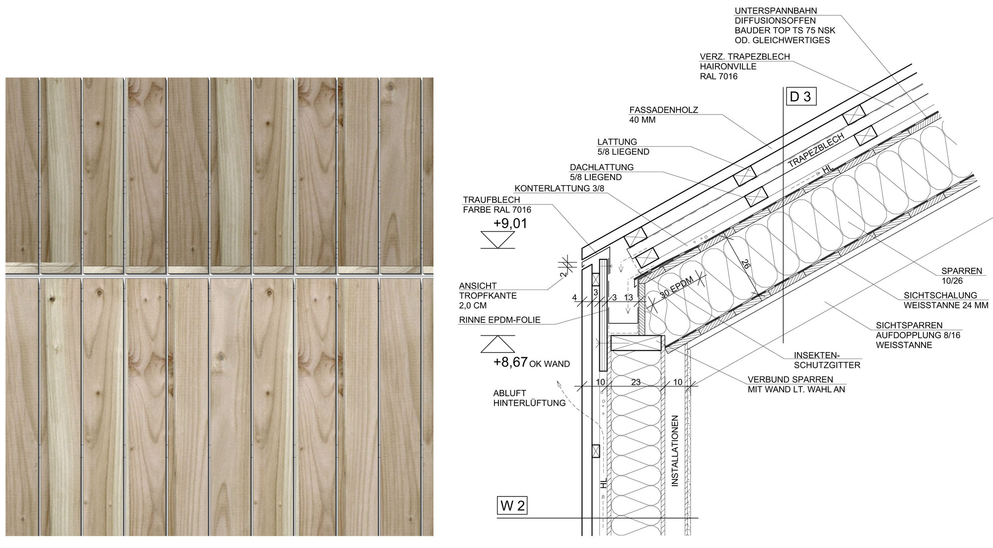 Wooden Cladding Sections ~ Vertical timber clad roof roofs general buildhub