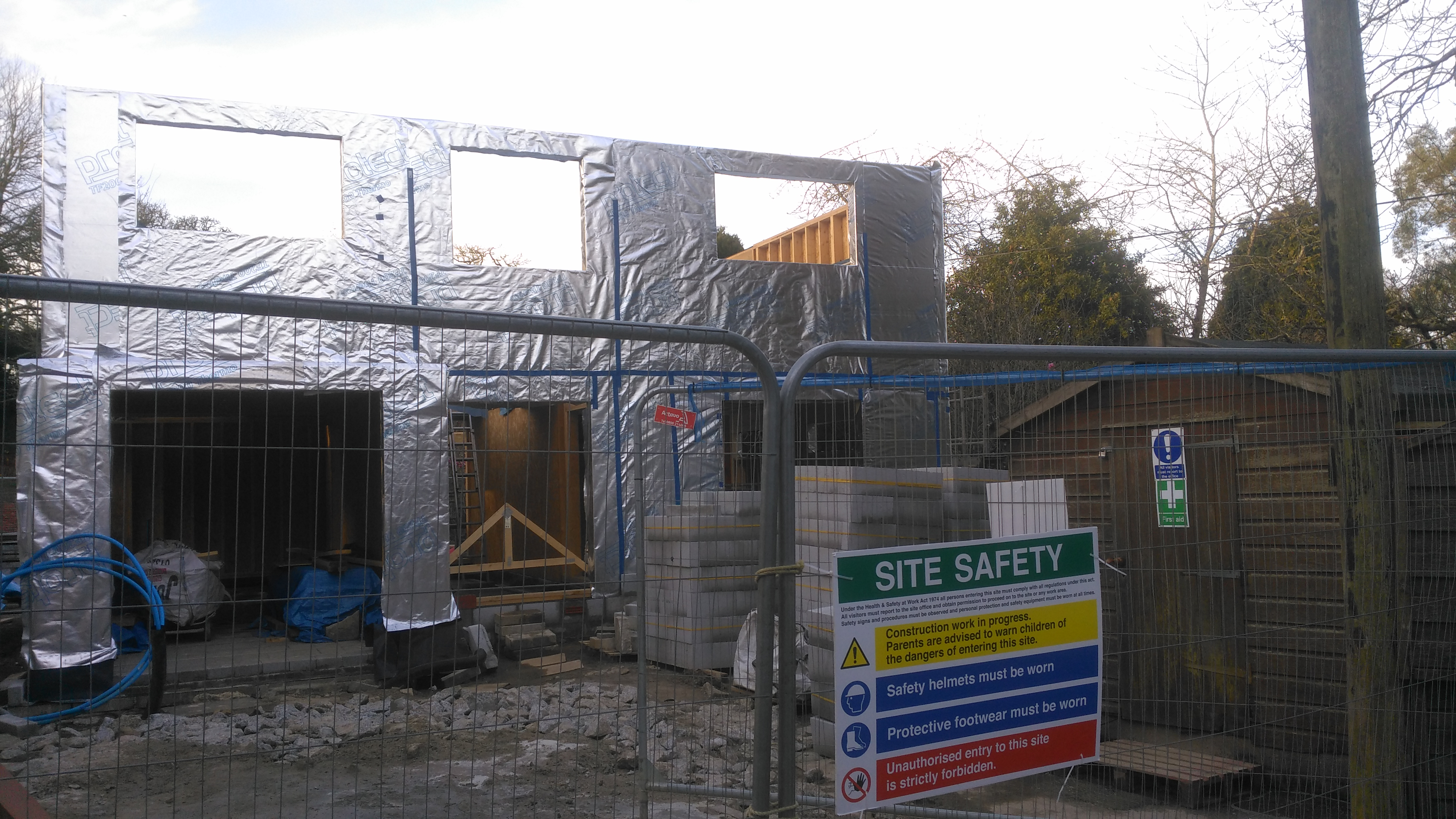 Timber frame building on site - Timber Frame - BuildHub org uk