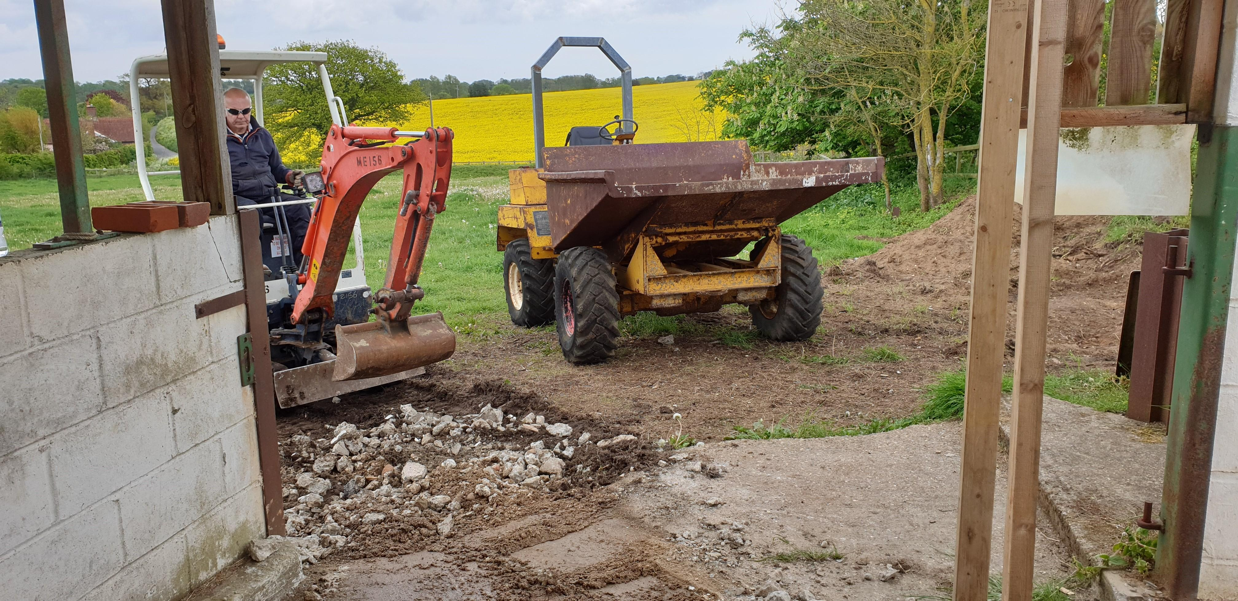 28th May - digging out and repairing